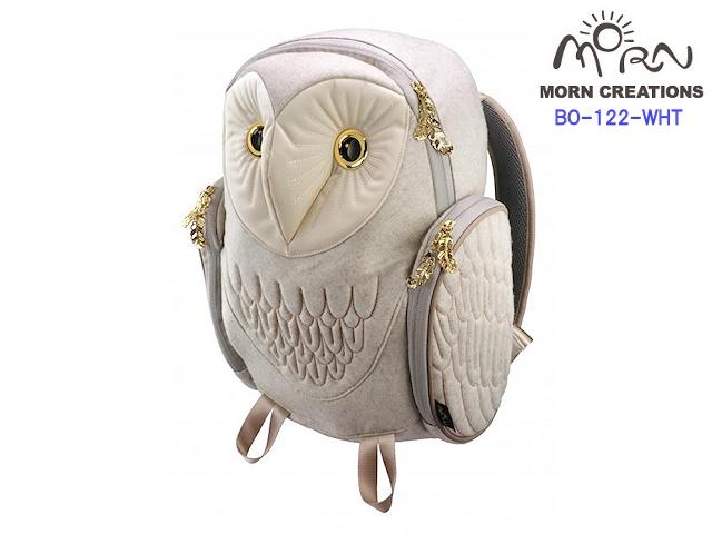 MORN CREATIONS モーンクリエイションズ メンフクロウ バックパック フランネル M WHT ホワイト フクロウ リュック デイパック