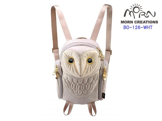 MORN CREATIONS モーンクリエイションズ メンフクロウ バックパック フランネル レディース WHT ホワイト フクロウ リュック デイパック