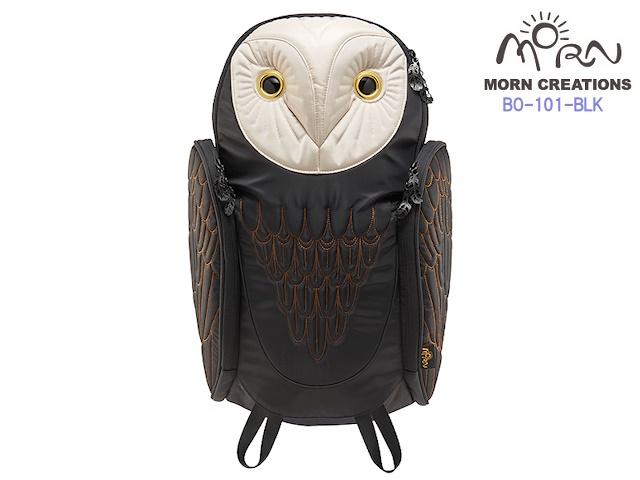 MORN CREATIONS モーンクリエイションズ メンフクロウ アーバン バックパック L BLK ブラック フクロウ リュック デイパック