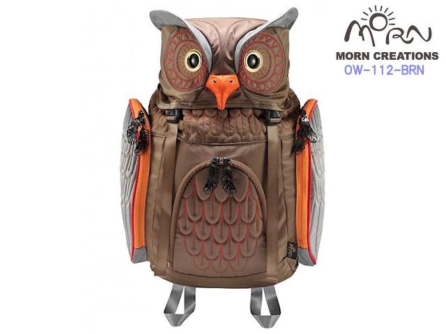 MORN CREATIONS モーンクリエイションズ ミミズクバックパック M  BRN ブラウン  新作 フクロウ リュック デイパック