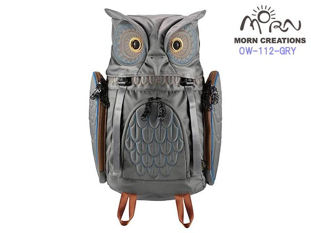 MORN CREATIONS モーンクリエイションズ ミミズクバックパック M  GRY グレー  新作 フクロウ リュック デイパック