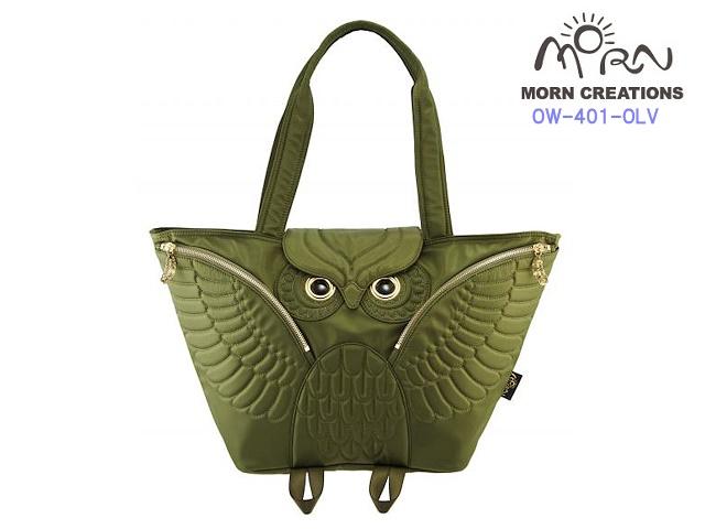 MORN CREATIONS/モーンクリエイションズのミミズク フライングトートバッグ OLV