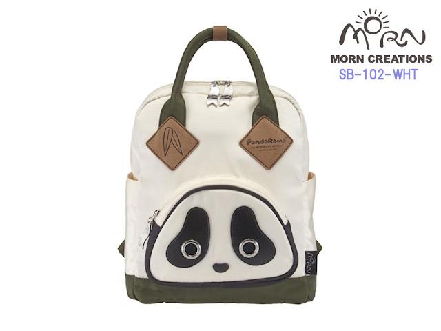 MORN CREATIONS/モーンクリエイションズのパンダスクールバッグ M WHT