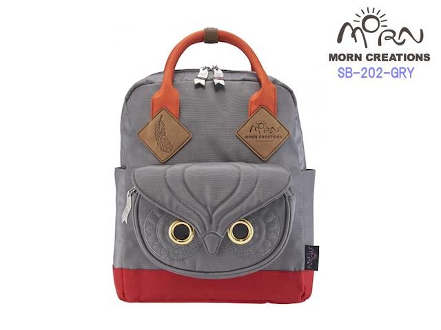 MORN CREATIONS/モーンクリエイションズのミミズク スクールバッグ M GRY