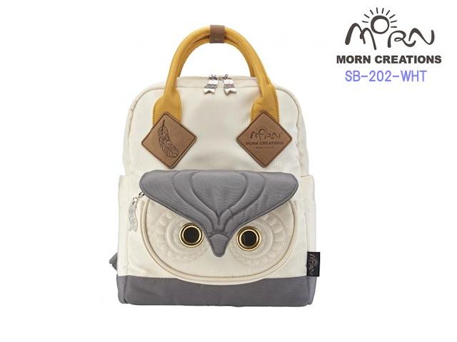 MORN CREATIONS/モーンクリエイションズのミミズク スクールバッグ M WHT