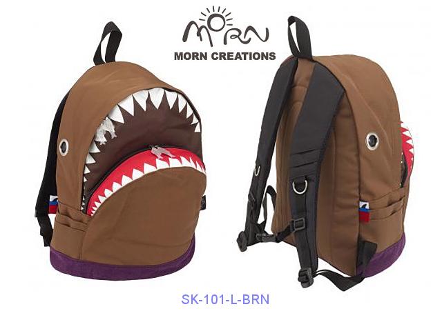MORN CREATIONS/モーンクリエイションズのシャークバックパック(L)ブラウン