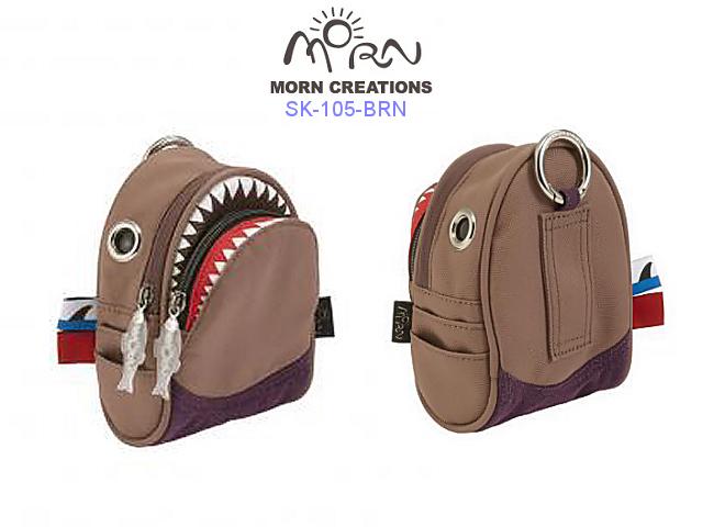 MORN CREATIONS/モーンクリエイションズのシャークポーチ ブラウン