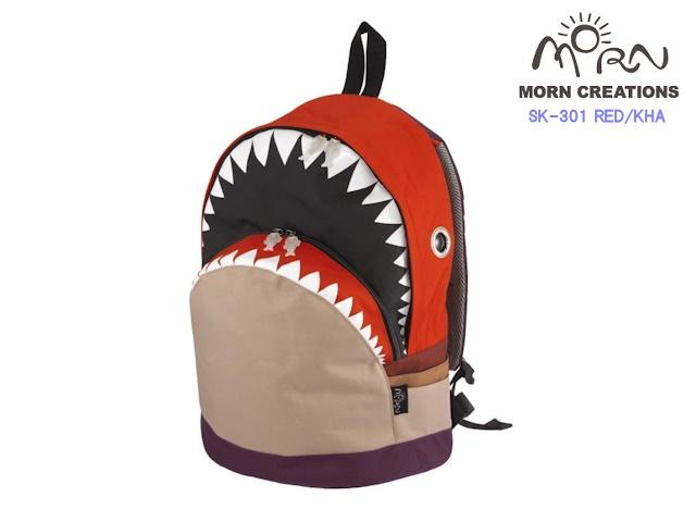 MORN CREATIONS/モーンクリエイションズのシャークバックパック(L)コンビ RED/KHA