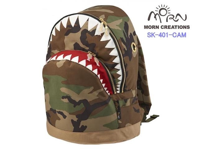 MORN CREATIONS/モーンクリエイションズのシャークバックパック(LL)コーデュラ CAM