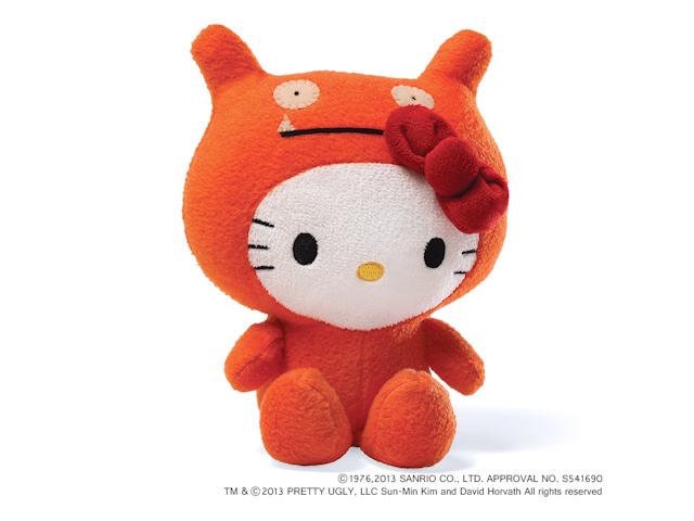 GUND/Ugly Doll ハローキティ ヌイグルミ オレンジ