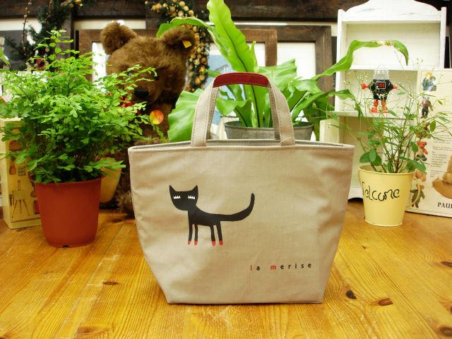 LA MERISE/ら・むりーず まつげ猫 ランチバッグ