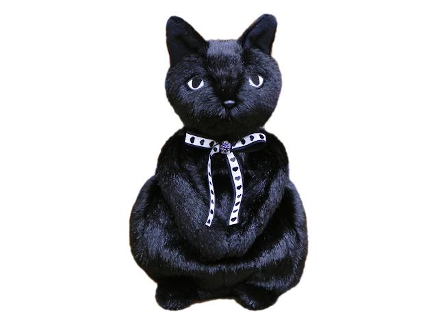 モンスイユオリジナル ネコのぬいぐるみ雑貨 / ブラックベリーバッグ 限定品