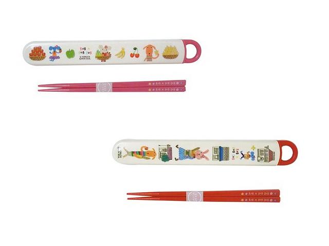 RUB A DUB DUB/ラブアダブダブのハシ&スライドケース(箸と箸箱のセット)