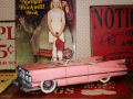 TIN TOY  /  PINK  CONVERTIBLE