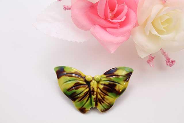 有田焼ブローチ 蝶