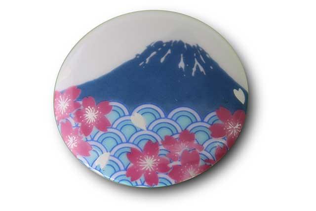 有田焼富士山マグネット 赤富士松