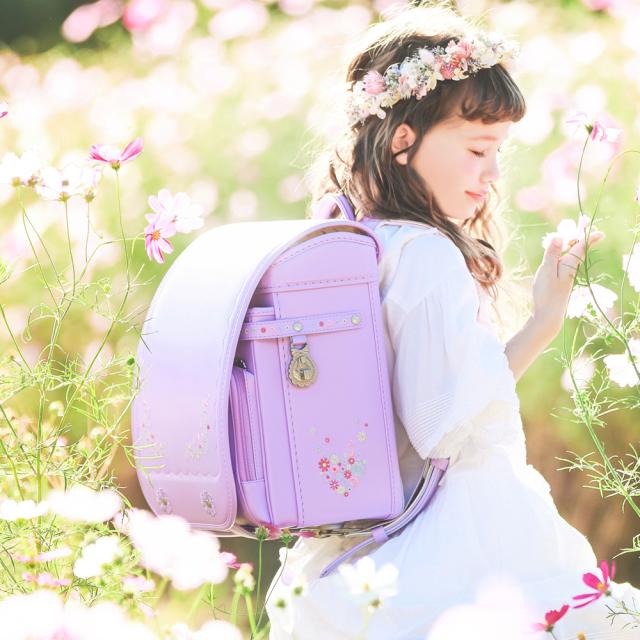 【☆毎日の通学が楽しくなるランドセル☆】  2021ニノニナランドセル 『ラ・フルール』 ☆身幅調整が出来るランドセル☆
