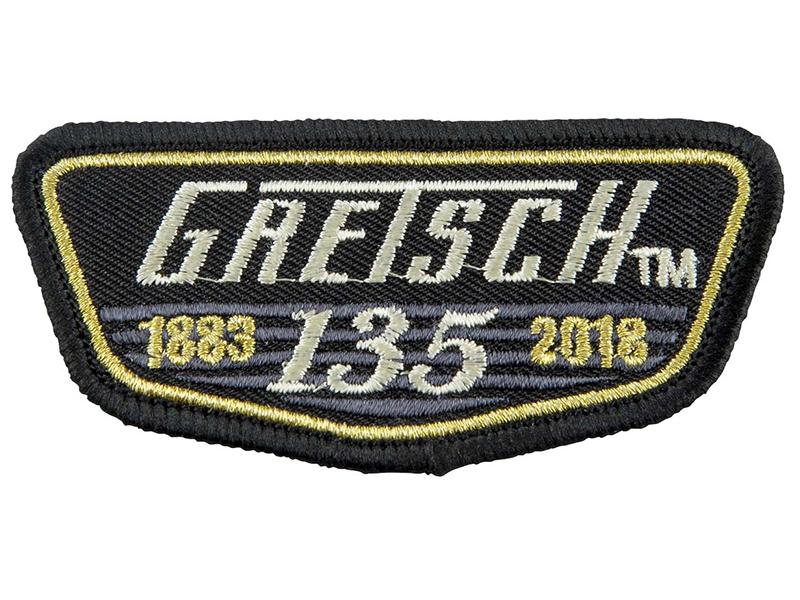 【送料無料メール便】グレッチ アイロンワッペン Gretsch 135th Anniversary Patch 135周年記念ワッペン