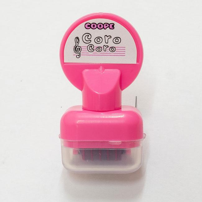 【送料無料メール便】五線を一瞬でひけるスタンプ コロコロ五線スタンプ ぴんく インクカラー:ピンク