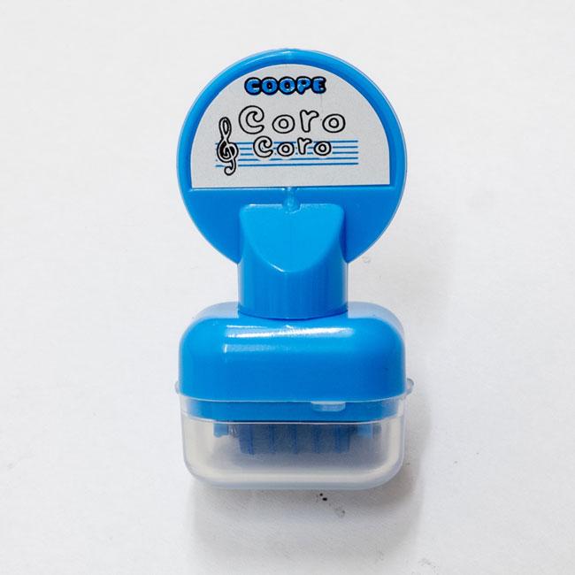 【送料無料メール便】五線を一瞬でひけるスタンプ コロコロ五線スタンプ あお インクカラー:青