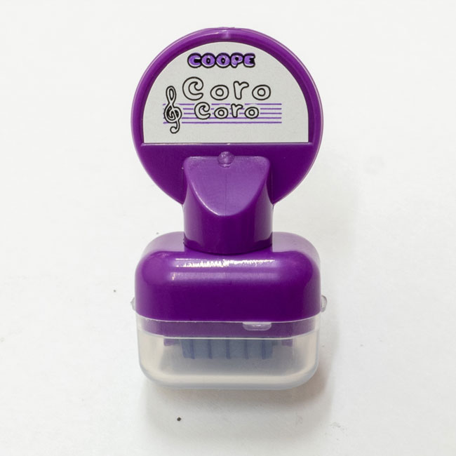 【送料無料メール便】五線を一瞬でひけるスタンプ コロコロ五線スタンプ むらさき インクカラー:紫