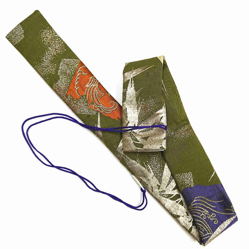 【送料無料メール便】笛袋 横笛袋 篠笛袋 「黄金竹」 幅約55mm長さ約750mm 篠笛適合 一本調子~三本調子