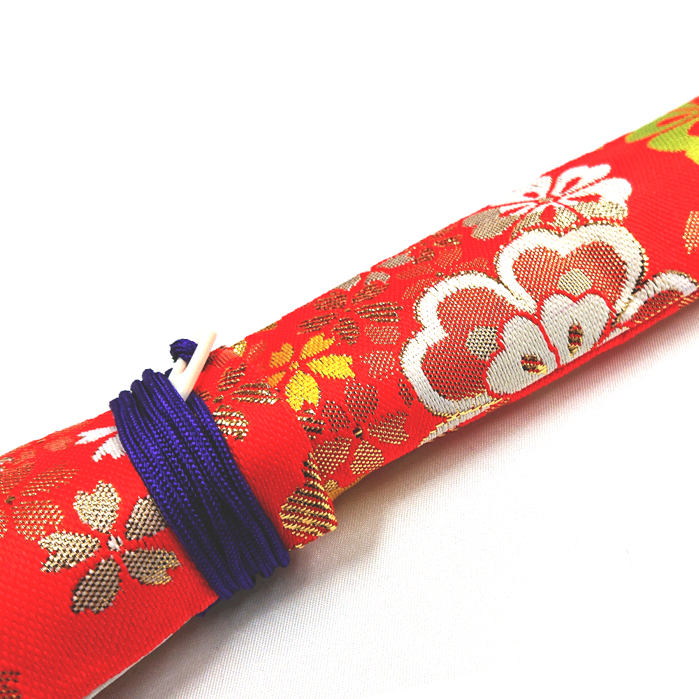 【送料無料メール便】笛袋 横笛 篠笛「桜柄」幅55mm長さ750mm 篠笛適合 一本調子 二本調子 三本調子