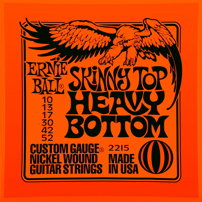 【送料無料メール便】ERNIE BALL アーニーボールエレキギター弦 2215 SKINNY TOP HEAVY BOTTOM ヘビーボトム 1SET(10-52)