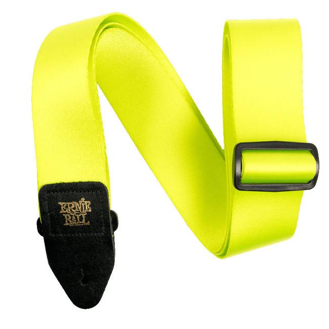 【送料無料メール便】ERNIE BALL ギターストラップ 5320 NEON GREEN PREMIUM STRAP ネオングリーン