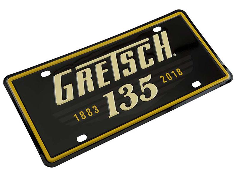【送料無料メール便】グレッチ 135周年記念 ライセンスプレート Gretsch 135th Anniversary License Plater