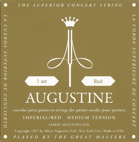 [送料無料] AUGUSTINE IMPERIAL RED×1セット オーガスチン インペリアル レッド クラシックギター弦