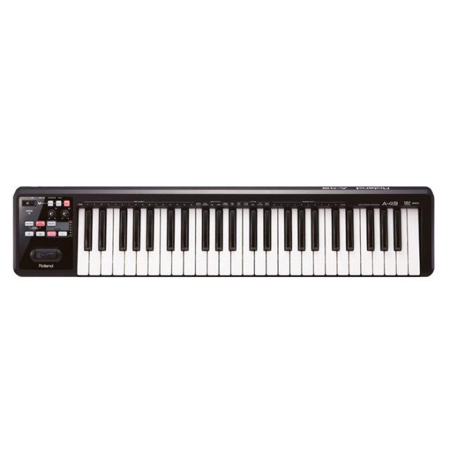 【送料無料】Roland(ローランド)MIDIキーボード A-49 ブラック