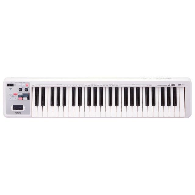 【送料無料】Roland(ローランド)MIDIキーボード A-49 ホワイト