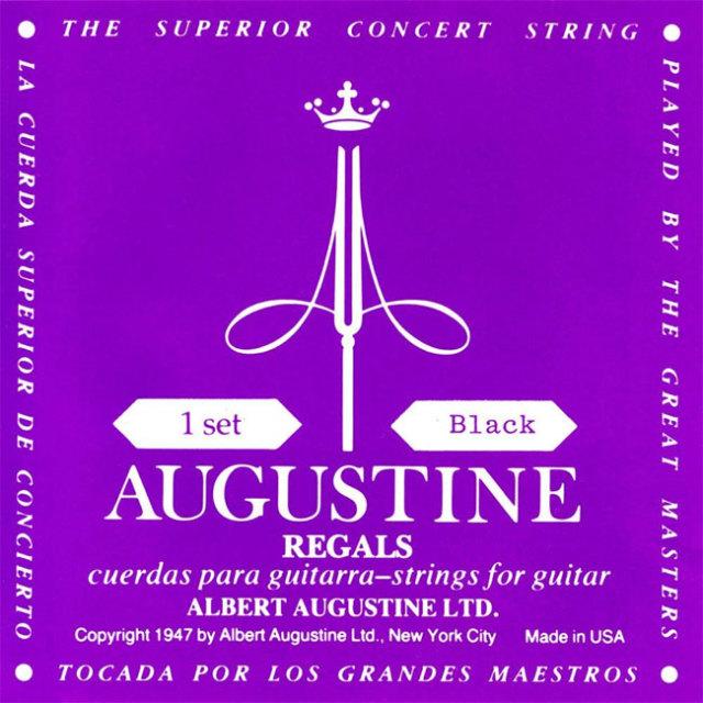 【送料無料メール便】クラシックギター弦 オーガスチン リーガルブラックセット AUGUSTINE REGAL BLACK SET 1弦~6弦まで1本づつセット