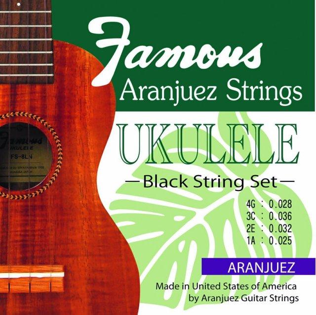【送料無料メール便】Famous ウクレレ弦 ARANJUEZ BLACK SET ブラックのナイロン弦