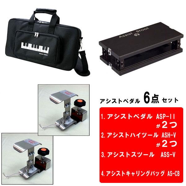 [送料無料]アシストペダル 6点セット アシストペダル専用キャリングバッグ セット カラー:ブラック