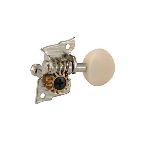 ARIA ウクレレペグ4個セット ギアタイプ ホワイト AT-120UG ウクレレ糸巻き
