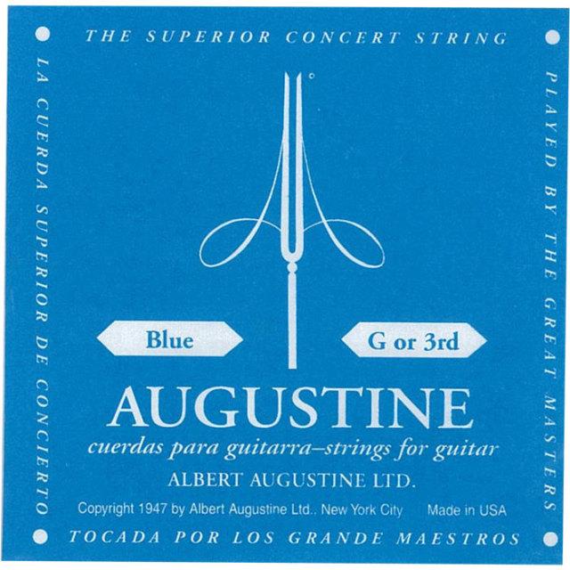 [送料無料] AUGUSTINE(オーガスチン) BLUE 3弦 バラ弦 1本のみ