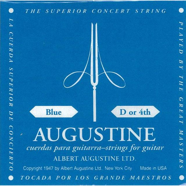 [送料無料] AUGUSTINE(オーガスチン) BLUE 4弦 バラ弦 1本のみ