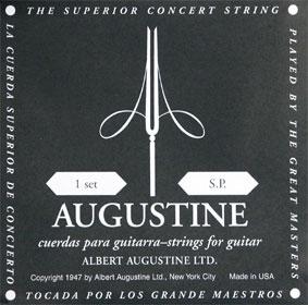 [送料無料] 定番 AUGUSTINE BLACK(オーガスチン ブラック・黒ラベル) セット クラシックギター弦