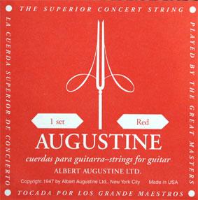 [送料無料] 定番 AUGUSTINE(オーガスチン) RED(レッド・赤ラベル) セット クラシックギター弦