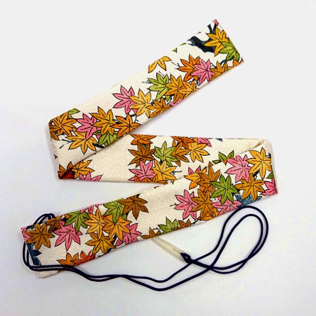 【送料無料メール便】篠笛袋・横笛袋 「生絹紅葉」笛袋 幅約45mmX長さ約600mm  篠笛適合 五本調子・六本調子・七本調子