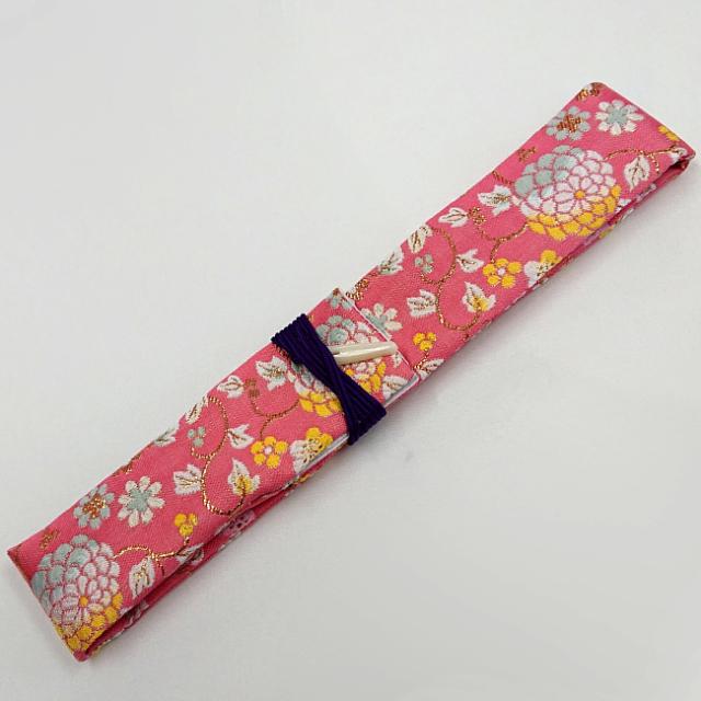 【送料無料メール便】篠笛袋・横笛袋 「小手毬桃色」綿生地 幅約45mm長さ約600mm 篠笛適合 五本調子・六本調子・七本調子