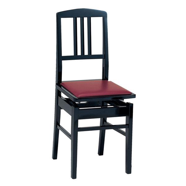背もたれピアノ椅子 トムソン高低椅子 メーカー:甲南 No.5
