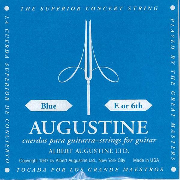 [送料無料] AUGUSTINE(オーガスチン) BLUE 6弦 バラ弦 1本のみ