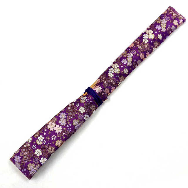 【送料無料メール便】篠笛袋・横笛袋 「紫恋之華」 幅約50mm長さ約650mm
