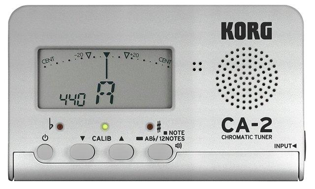 【送料無料メール便】コルグ クロマチックチューナー CA-2 シルバー 吹奏楽 管楽器 カードタイプチューナー