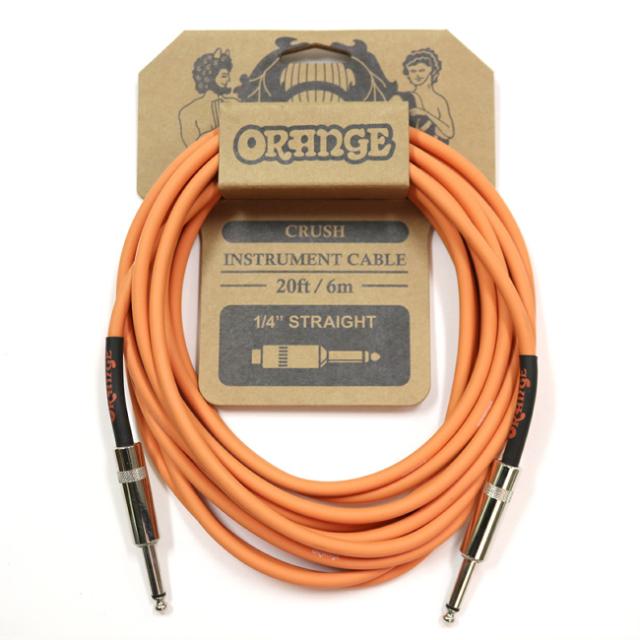 【送料無料メール便】Orange オレンジ 楽器用 シールド ケーブル 6m ストレートストレートフォーン CA036
