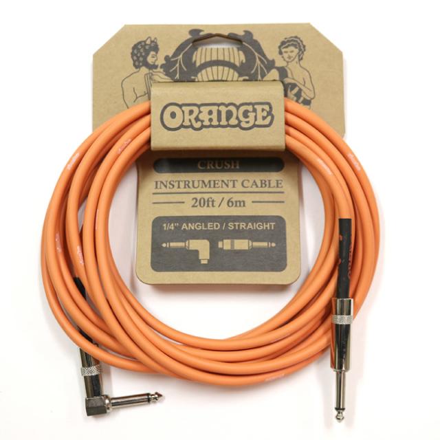 【送料無料メール便】Orange オレンジ 楽器用 シールド ケーブル 6m L字とストレートフォーン CA037