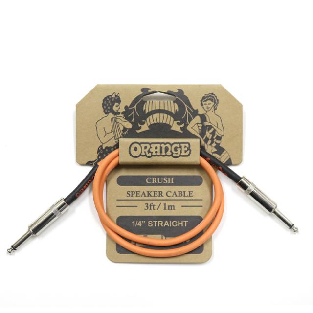 【送料無料メール便】Orange オレンジ スピーカーケーブル プラグ:フォーン 1m  CA040